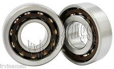2 Angular Contact 7201B 12x32x10 12mm/32mm/10mm Ball Screw Spindle Ball Bearings