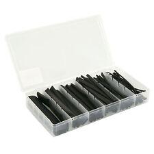 100 Teiliges Schrumpfschlauch Set schwarz 1,5mm 2,5mm 4mm 6mm 10mm 13mm Ø