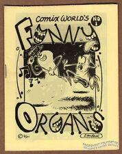FUNNY ORGANS #1 underground comix DAVID MILLER Tom Brinkmann PET SILVIA CW 1980