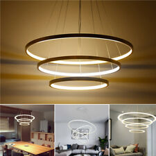 LED Ceiling Pendant Dimming Ring Light Holder Lamp Shade Fixture Home Living Roo