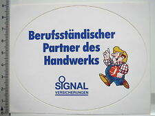 Aufkleber Sticker Signal - Versicherungen - Partner des Handwerks (S1358)