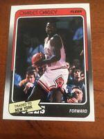 1988-89 Fleer #18 Charles Oakley PSA 9 ?MINT New York Knicks Basketball Card