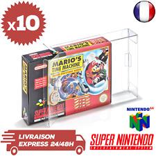 Childhood 10 Pièces Boîtiers Protecteurs Transparents pour Nintendo SNES