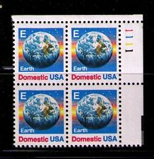 US USA Sc# 2277 MNH FVF PL# BLOCK Planet Earth E Rate Globe Rainbow Stars
