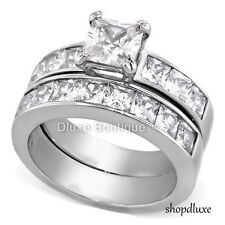 Wedding Ring Set Size 5,6,7,8,9,10,11 Women's Stainless Steel Aaa Cz Engagement