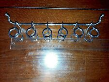 (2 Pack) Metal Pegboard 6 ring Tool Holder