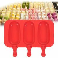 New Frozen Summer Kitchen Silicone Popsicle Mold + 20 Stick Cube Tray Ice Cream