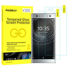 PASBUY 2 Pack Premium Tempered Glass Screen Protector for Sony Xperia XA2 Ultra