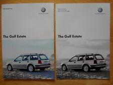 VOLKSWAGEN Golf Estate 2005 2006 UK inchiostri BROCHURE + LISTINO PREZZI-VW