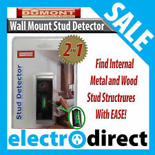 2 IN 1 Dumont Stud Detector Wall Mount Bracket Install Tool For Wood Metal Wires