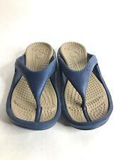 Crocs Unisex Athens Blue Flip Flop Hong Sandals Women's Size 7 Mens Size 5