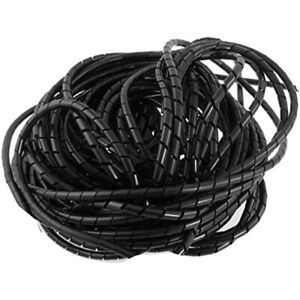 21M 68 Ft PE Black Polyethylene Spiral Wire Wrap Tube PC Manage Cable 6mm 1/ 4''