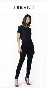 BNWT J Brand Leenah High Rise Skinny Ankle Crop Jeans Navy Velvet Size 24