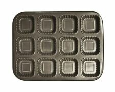 Non-stick Cupcake Baking Tray, 12-cup - Square Design