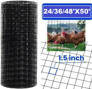 """1.5 """" Maille Matériel Tissu 16 Jauge Revêtement Vinyle Poulet Cage / Courir /"""