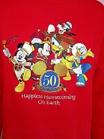 Disneyland Resort 50th Anniv. 2005 Happiest Homecoming Red Sweatshirt Women's M