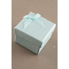 NUOVO Verde Pastello Nastro Fiocco Anello Nuziale Casella (non imballato piatto) 5x5x3.5cm