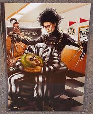 Edward Scissorhands & Beetlejuice Glossy Print 11 x 17 In Hard Plastic Sleeve