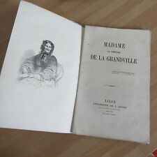 MADAME LA COMTESSE DE LA GRANDVILLE BEAUFORT PLAQUETTE 1867