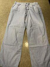 J. Crew Mens Blue White Stripe Pajama Pants Large