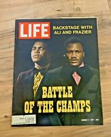 LIFE MAGAZINE March 5th 1971 Battle of the Champs Ali and Frazier / Great ads
