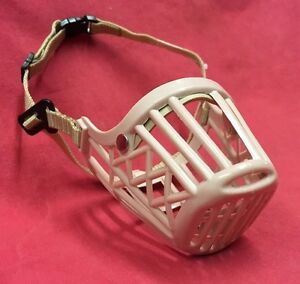 Dog Muzzle Small Strong Safety Cage Basket Adjustable Straps Whippets Dachshund
