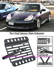 Fit 97-01 Porsche 996.1 Carrera Front Tow Hook Mount License Plate Relocator