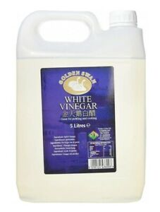 1 x Golden Swan White Vinegar For Cleaning Pickling Marinating Cooking 5 Litres
