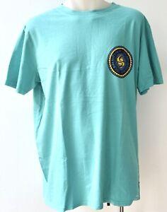 QUIKSILVER Mens Printed T Shirt - AQUA - SIZE - LARGE - NEW