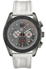 Lacoste Watch Mens Chronograph 2010667 Brand Leather Wristwatch New