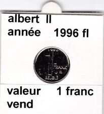 FB 2 )pieces de albert II  1 francs 1996   belgie