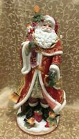 "RARE FITZ & FLOYD 2014 CHRISTMAS 18"" BEAUTIFUL HOLIDAY REGAL SANTA MINT W/ BOX"