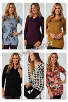 Kim & Co Brushed Lux Sweater Knit Long Sleeve Cowl Neck Tunic,Choose Size/Colour