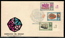 URUGUAY 1972   MINERALS (Set of 3 on FDC) lot 1