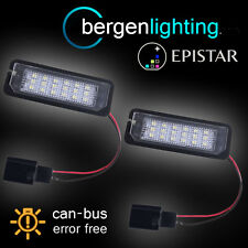 FOR VOLKSWAGEN GOLF & GTI BEETLE SCIROCCO 18 LED NUMBER PLATE LIGHT LAMP PAIR