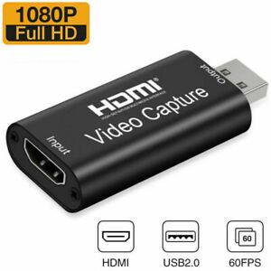 HDMI to USB2.0 Video Capture Card 1080P Record Broadcast Audio/Video Live Stream