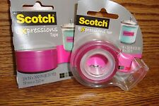 Scotch Expressions MatteTape in despenser + 1 Refill Decorating-Crafting Pink