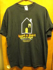 RONALD Mc DONALD HOUSE ~ Sport A Shirt Share A Night NC~  T Shirt XL Black