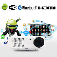 WIFI Beamer Bluetooth Android 1080P FULL HD Wireless LED Video projektor HDMI 3D