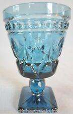 Vintage PARK LANE By COLONY Indiana Glass-Footed WINE Glass Goblet-BLUE