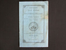 1883 Baltimore College of Dental Surgery Snowden & Cowman Annual Catalog