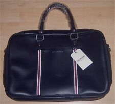 "Ben Sherman Messenger Leather Bag NAVY Top Zip 13.5""  Laptop & Tablet, (NEW)"