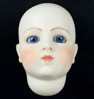 Bru Jne 8 REPRODUCTION doll head blue glass paperweight artist Frances Reedy M