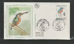 France 1991 SG3042 Yvert2724 FDC (Dole) Nature-Kingfisher (Alcedo Atthis)