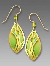 Adajio Earrings Vibrant Citrine & Lime Petal with Gold Plated Grasses Overlay