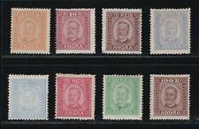 Portugal - 1892-93 Azores - Angra - Short Set - MNG