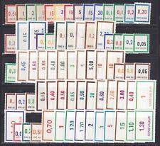 TIMBRES FICTIFS, COLLECTION DE 120 différents neufs sans charnière ** MNH, TB