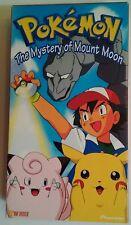 Pokemon Mystery of Mount Moon Vhs Nintendo Pikachu Pioneer Rare vtg 1998 htf