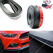 1pc Black PU Front Bumper Lip Universal Splitter Chin Spoiler Body Kit Trim 8ft