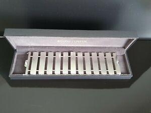 Georg Jensen Wide Aria Sterling Silver Cuff Bracelet #593D 20cm New Free Post